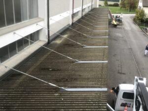 eternit dach reinigen streichen vorher