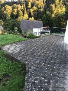 terrassenreinigung osmo vorher reinigung